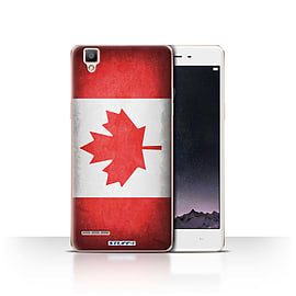 STUFF4 Case/Cover for Oppo F1 / Canada/Canadian Design / Flags Collection Mobile phones