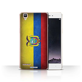 STUFF4 Case/Cover for Oppo F1 / Ecuador/Ecuadorian Design / Flags Collection Mobile phones