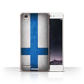 STUFF4 Case/Cover for Oppo F1 / Finland/Finnish Design / Flags Collection Mobile phones