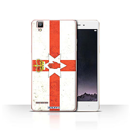 STUFF4 Case/Cover for Oppo F1 / Northern Ireland Design / Flags Collection Mobile phones