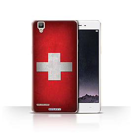 STUFF4 Case/Cover for Oppo F1 / Switzerland/Swiss Design / Flags Collection Mobile phones