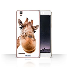 STUFF4 Case/Cover for Oppo F1 / Closeup Giraffe Design / Funny Animals Collection Mobile phones