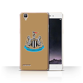 Official Newcastle United FC Case/Cover for Oppo F1/Colour/Gold Design/NUFC Football Crest Mobile phones