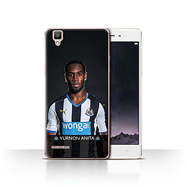 Official Newcastle United FC Case/Cover for Oppo F1/Anita Design/NUFC Football Player 15/16 Mobile phones