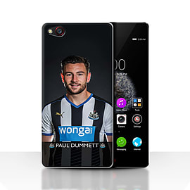 Official Newcastle United FC Case/Cover for ZTE Nubia Z9/Dummett Design/NUFC Football Player 15/16 Mobile phones