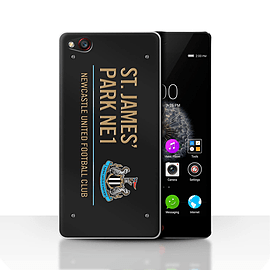 Official Newcastle United FC Case/Cover for ZTE Nubia Z9/Black/Gold Design/St James Park Sign Mobile phones