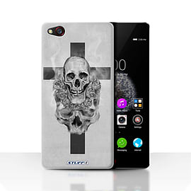 STUFF4 Case/Cover for ZTE Nubia Z9 / Cross/Crucifix Design / Skull Art Sketch Collection Mobile phones