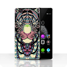 STUFF4 Case/Cover for ZTE Nubia Z9 / Tiger-Colour Design / Aztec Animal Design Collection Mobile phones
