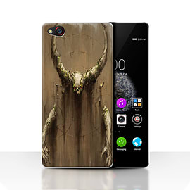 Official Chris Cold Case/Cover for ZTE Nubia Z9 / Horns Design / Dark Art Demon Collection Mobile phones