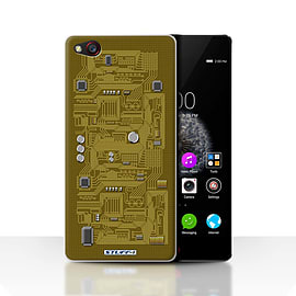 STUFF4 Case/Cover for ZTE Nubia Z9 / Yellow Design / Circuit Board Collection Mobile phones