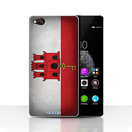 STUFF4 Case/Cover for ZTE Nubia Z9 / Gibraltar/Gibraltarian Design / Flags Collection Mobile phones