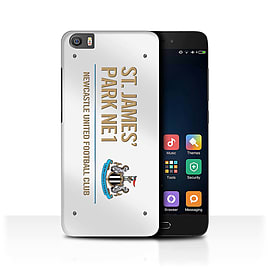 Official Newcastle United FC Case/Cover for Xiaomi Mi5/Mi 5/White/Gold Design/St James Park Sign Mobile phones