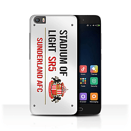 Official Sunderland AFC Case/Cover for Xiaomi Mi5/Mi 5/White/Red Design/SAFC Stadium of Light Sign Mobile phones