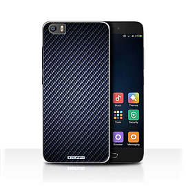 STUFF4 Case/Cover for Xiaomi Mi5/Mi 5 / Blue Design / Carbon Fibre Effect/Pattern Collection Mobile phones