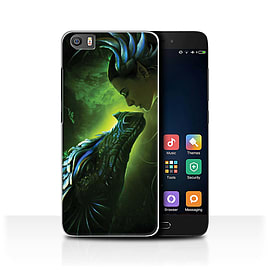 Official Elena Dudina Case/Cover for Xiaomi Mi5/Mi 5/Green Scales Design/Dragon Reptile Mobile phones