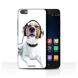 STUFF4 Case/Cover for Xiaomi Mi5/Mi 5 / Chillin Headphone Dog Design / Funny Animals Collection Mobile phones