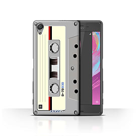 STUFF4 Case/Cover for Sony Xperia X / Compact Cassette Tape Design / Retro Tech Collection Mobile phones