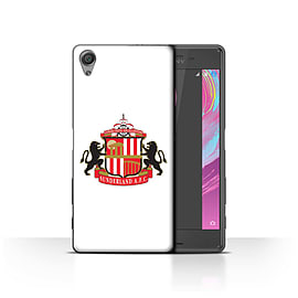 Official Sunderland AFC Case/Cover for Sony Xperia X/White Design/SAFC Football Club Crest Mobile phones