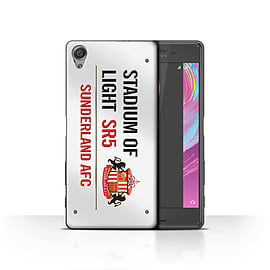 Official Sunderland AFC Case/Cover for Sony Xperia X/White/Red Design/SAFC Stadium of Light Sign Mobile phones