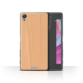 STUFF4 Case/Cover for Sony Xperia X / Beech Design / Wood Grain Effect/Pattern Collection Mobile phones
