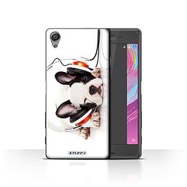 STUFF4 Case/Cover for Sony Xperia X Performance/Snooze Headphone Dog Design/Funny Animals Mobile phones