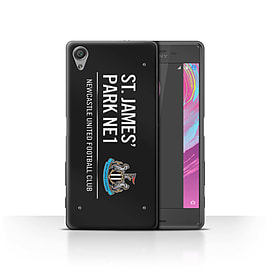 Newcastle United FC Case/Cover for Sony Xperia X Performance/Black/White Design/St James Park Sign Mobile phones