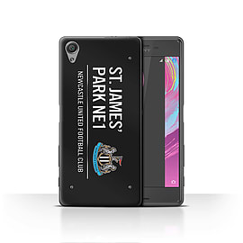 Official Newcastle United FC Case/Cover for Sony Xperia X/Black/White Design/St James Park Sign Mobile phones