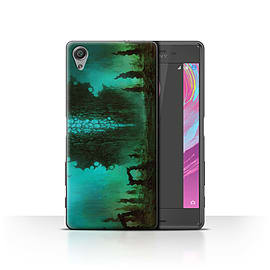 Chris Cold Case/Cover for Sony Xperia X Performance/Alien Landscape Design/Alien World Cosmos Mobile phones