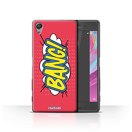 STUFF4 Case/Cover for Sony Xperia X Performance / Bang! Design / Comics/Cartoon Words Collection Mobile phones