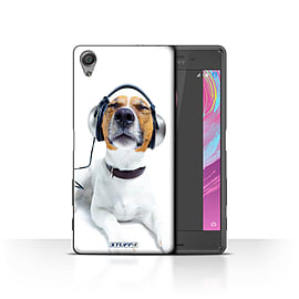STUFF4 Case/Cover for Sony Xperia X Performance/Chillin Headphone Dog Design/Funny Animals Mobile phones