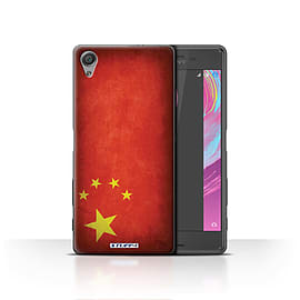 STUFF4 Case/Cover for Sony Xperia X / China/Chinese Design / Flags Collection Mobile phones