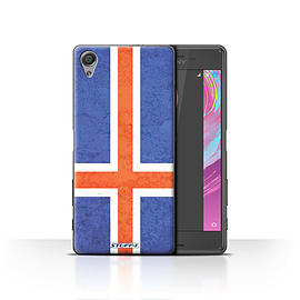 STUFF4 Case/Cover for Sony Xperia X / Iceland/Icelandic Design / Flags Collection Mobile phones