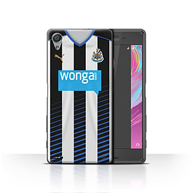 Newcastle United FC Case/Cover for Sony Xperia X/Footballer Design/NUFC Home Shirt/Kit 15/16 Mobile phones