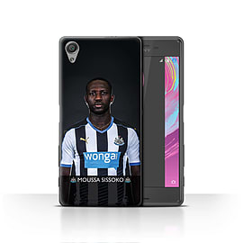 Official Newcastle United FC Case/Cover for Sony Xperia X/Sissoko Design/NUFC Football Player 15/16 Mobile phones