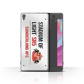 Official Sunderland AFC Case/Cover for Sony Xperia XA/White/Red Design/SAFC Stadium of Light Sign Mobile phones