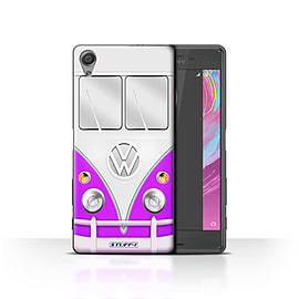 STUFF4 Case/Cover for Sony Xperia X / Purple Design / VW Camper Van Collection Mobile phones