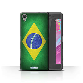 STUFF4 Case/Cover for Sony Xperia X / Brazil/Brazilian Design / Flags Collection Mobile phones