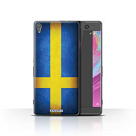 STUFF4 Case/Cover for Sony Xperia XA / Sweden/Swedish Design / Flags Collection Mobile phones