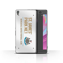 Official Newcastle United FC Case/Cover for Sony Xperia XA/White/Gold Design/St James Park Sign Mobile phones