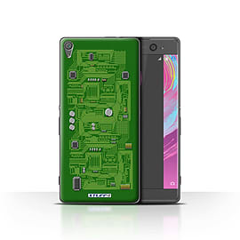 STUFF4 Case/Cover for Sony Xperia XA / Green Design / Circuit Board Collection Mobile phones