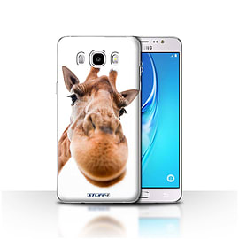 STUFF4 Case/Cover for Samsung Galaxy J5 2016 / Closeup Giraffe Design / Funny Animals Collection Mobile phones