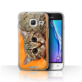 STUFF4 Case/Cover for Samsung Galaxy J1 Nxt/Mini / Big Eye Cat Design / Funny Animals Collection Mobile phones