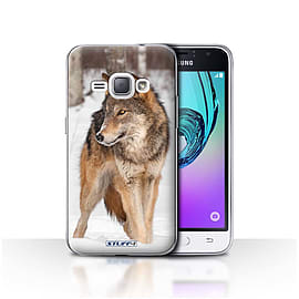 STUFF4 Case/Cover for Samsung Galaxy J1 2016 / Wolf Design / Wildlife Animals Collection Mobile phones