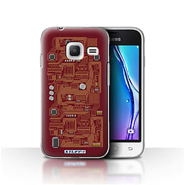 STUFF4 Case/Cover for Samsung Galaxy J1 Nxt/Mini / Red Design / Circuit Board Collection Mobile phones