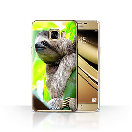 STUFF4 Case/Cover for Samsung Galaxy C7 / Sloth Design / Wildlife Animals Collection Mobile phones