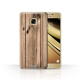 STUFF4 Case/Cover for Samsung Galaxy C7 / Plank Design / Wood Grain Effect/Pattern Collection Mobile phones