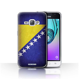 STUFF4 Case/Cover for Samsung Galaxy J1 2016 / Bosnia & Herzegovina Design / Flags Collection Mobile phones