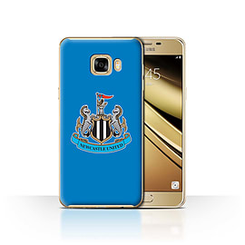 Official Newcastle United FC Case/Cover for Samsung Galaxy C7/Colour/Blue Design/NUFC Football Crest Mobile phones