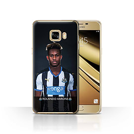 Newcastle United FC Case/Cover for Samsung Galaxy C7/Aarons Design/NUFC Football Player 15/16 Mobile phones