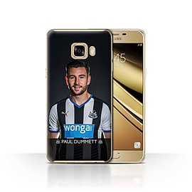 Newcastle United FC Case/Cover for Samsung Galaxy C7/Dummett Design/NUFC Football Player 15/16 Mobile phones